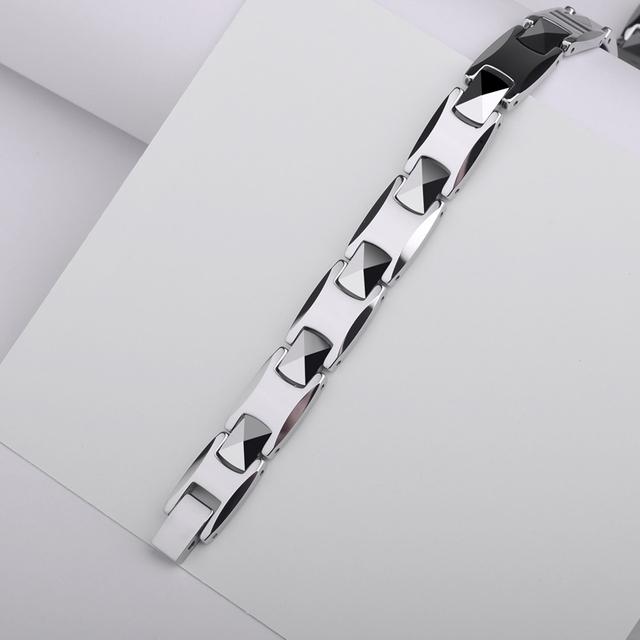 White Tungsten Adjustable Bracelets Health Care