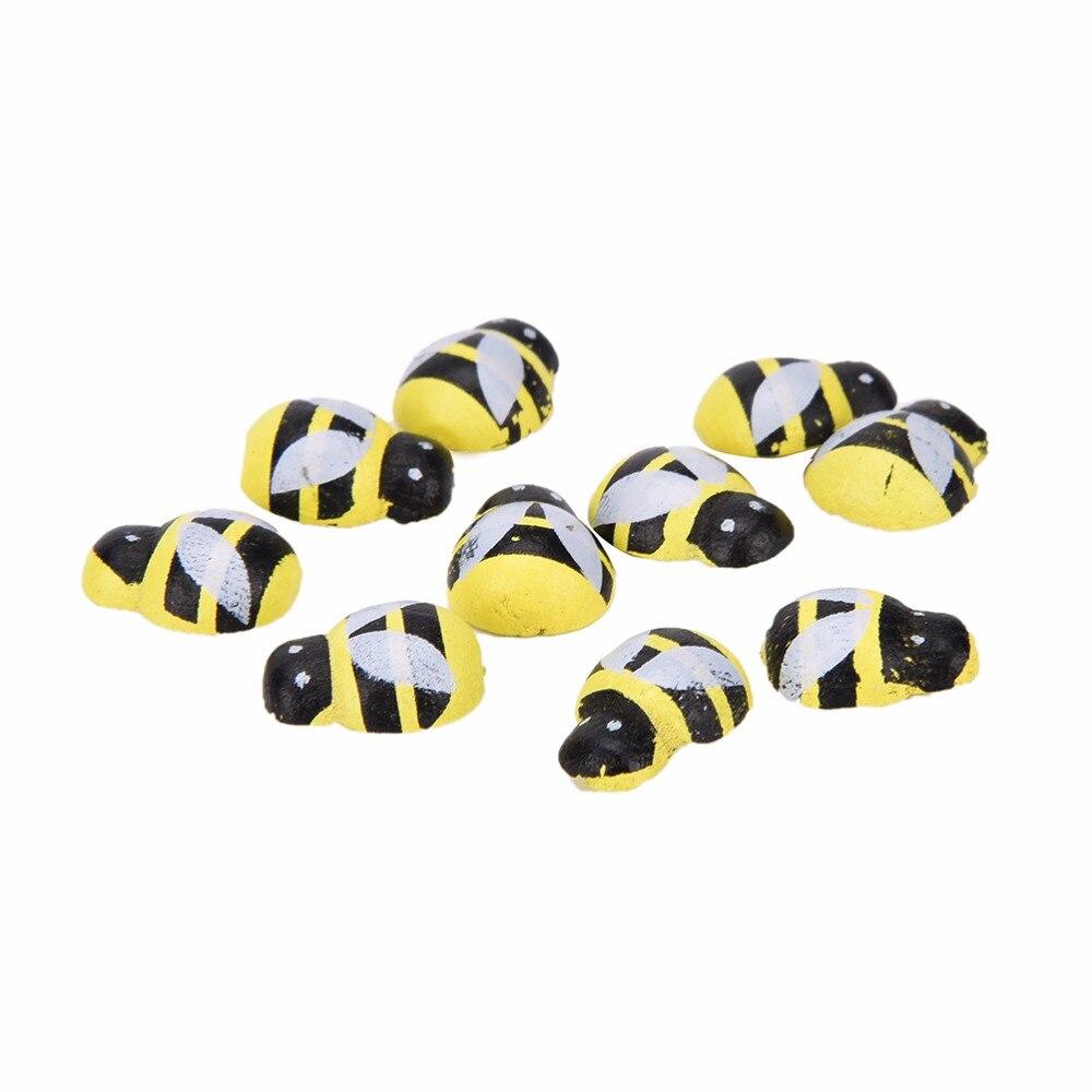 De Goedkoopste Prijs 3d Nieuwigheid Houten Art Bee Dier Koelkast Stickers 13mm * 9mm Kawaii Grappige Magneet Voor Scrapbooking Speelgoed 50 Stks Duidelijk En Onderscheidend