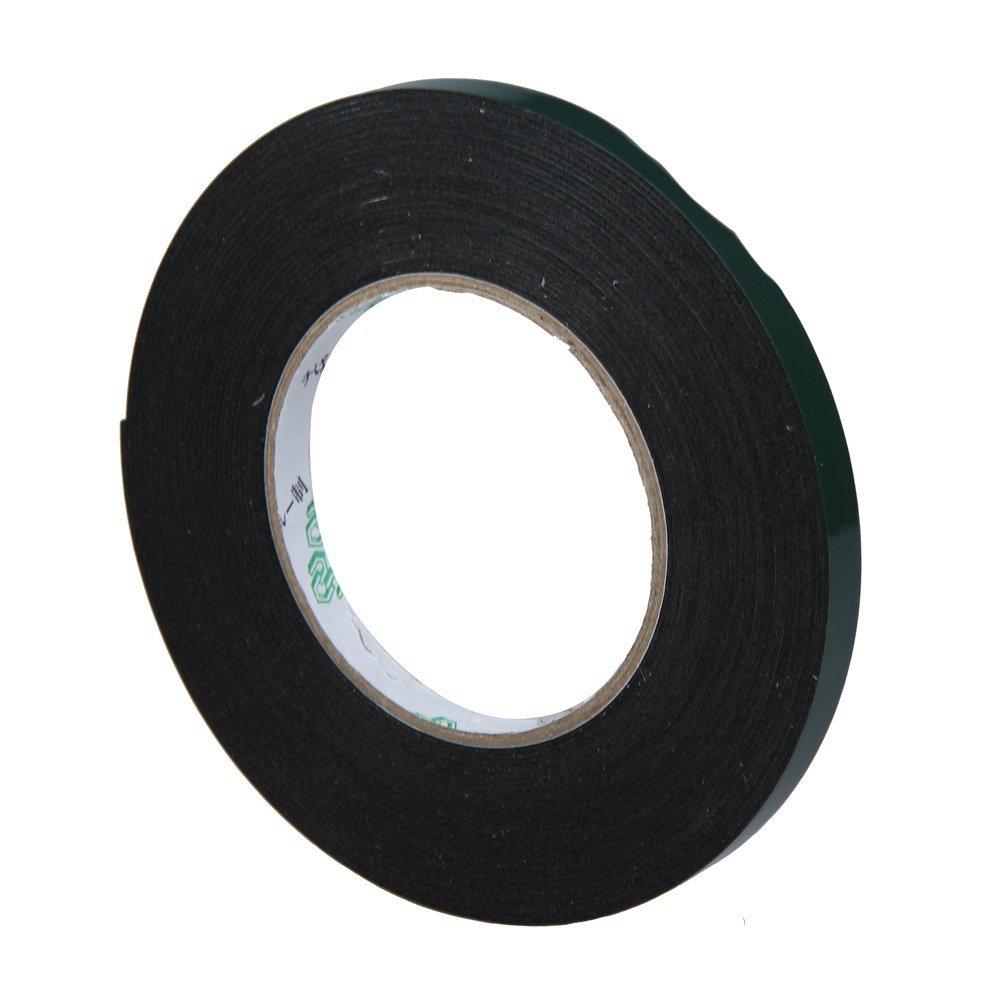 Lovely Multifunction Black Sponge Foam Double Sided Adhesive Tape (10mm*10m) double sided foam adhesive tape black 5m