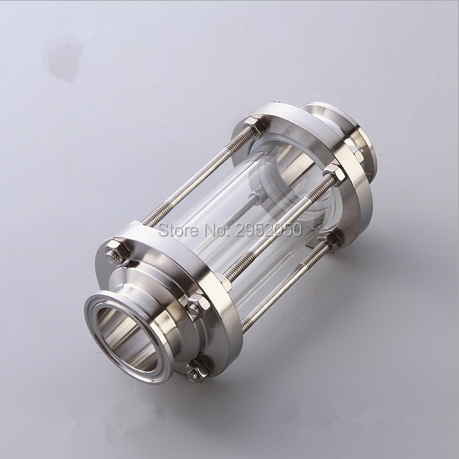 купить Free shipping 304 Stainless Steel Sanitary Fitting 2''(51mm) OD64 Sanitary Tri Clamp Sight Glass, Stainless Steel 304 по цене 2986.08 рублей