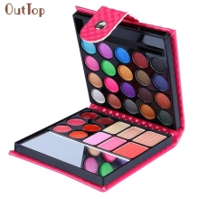 Beauty Girl 32 Color Cosmetic Matte Eyeshadow Cream Eye Shadow Lip Gloss Brightness Enhancer Makeup Palette Shimmer Set Aug5