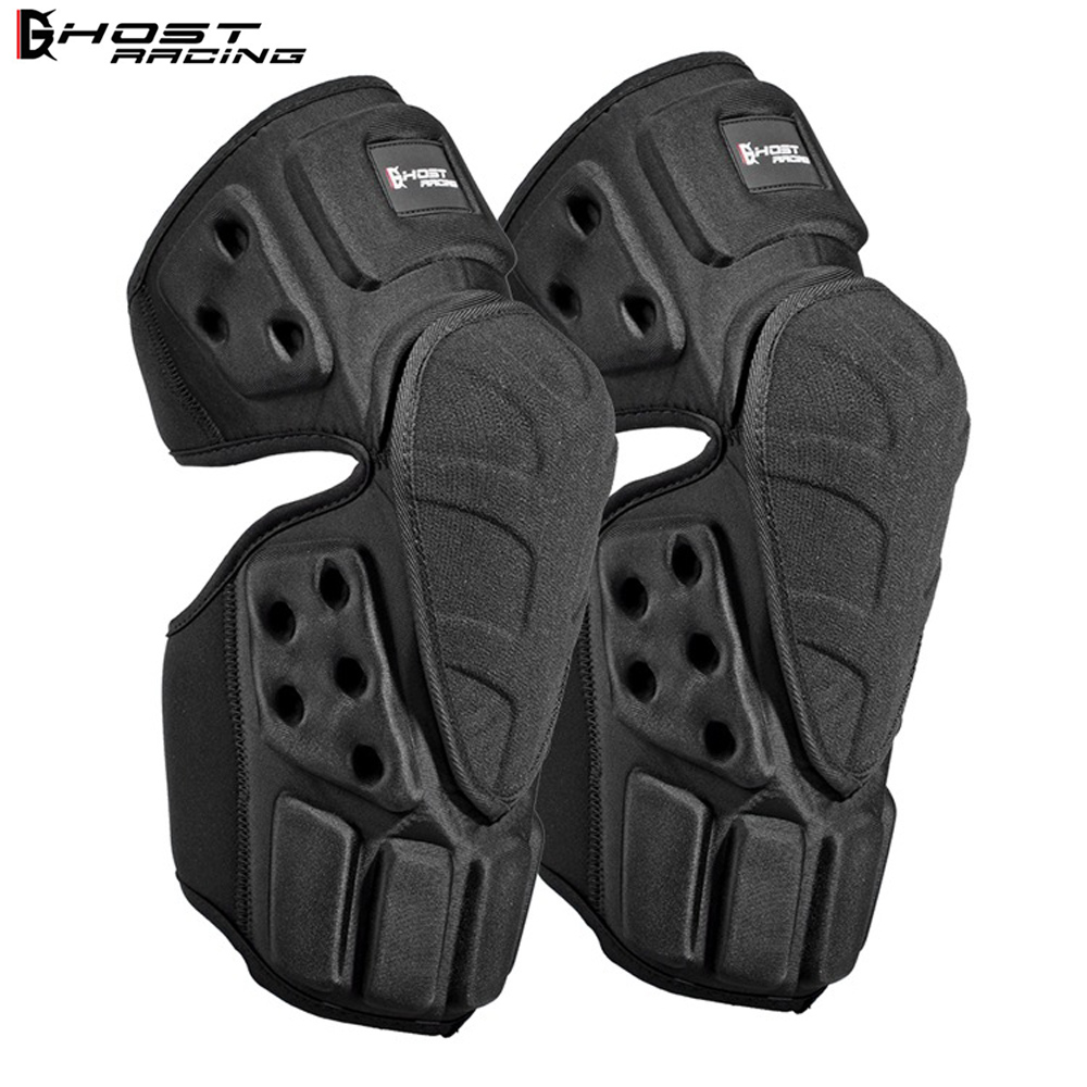 GHOST RACING Motorcycle Knee Pads Motocross Knee Protector Off Road Safety Knee Brace Support MTB Ski Sports Protective Gear