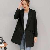 2017 Fashion Women Office Lady Style Blazers And Jackets Double Breasted Long Sleeve Lady Suit