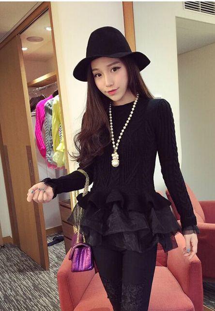 7b39cfea6ba US $20.5 25% OFF|Hot sale women knitted tutu jumpers sweaters woman  knitting sweater dresses jumper tops pink black khaiki grey purple 7  color-in ...