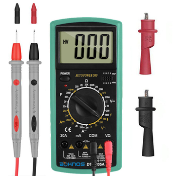 Multimeter 2000 counts Multimetro AC/DC Digital Multimeter  Professional Tester Meter With Probe Test Leads Crocodile Clip Tool zeast vc97 digital multimeter 3 3 4 capacitor frequency tester meter professional electric leads instruments lcd probe