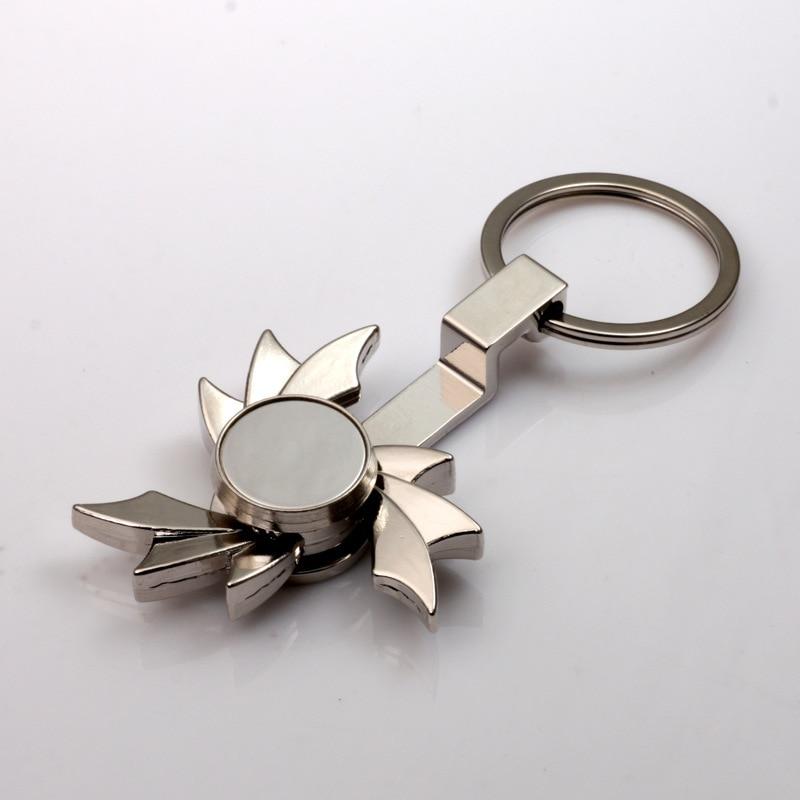 Finger Spinner key chain key ring handspinner fidget spinner keychain key holder creative chaveiro llaveros hombre