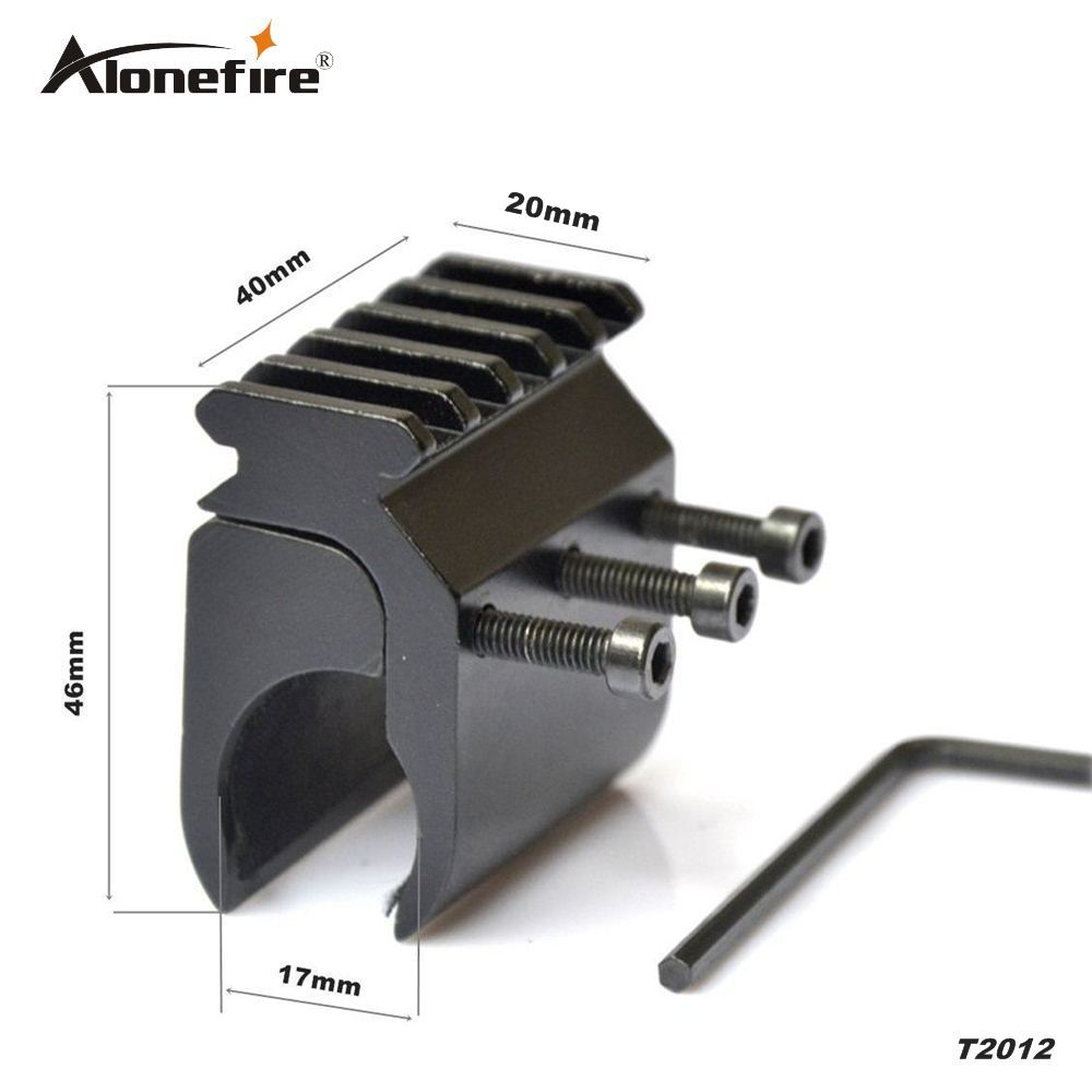 AloneFire 20mm Mira Láser Linterna Base de Montaje Picatinny Weaver Rail Mount B