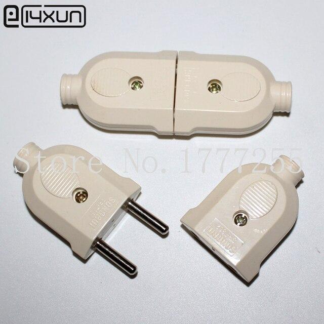 Pairs a v round pin ac plug and jack eu male female