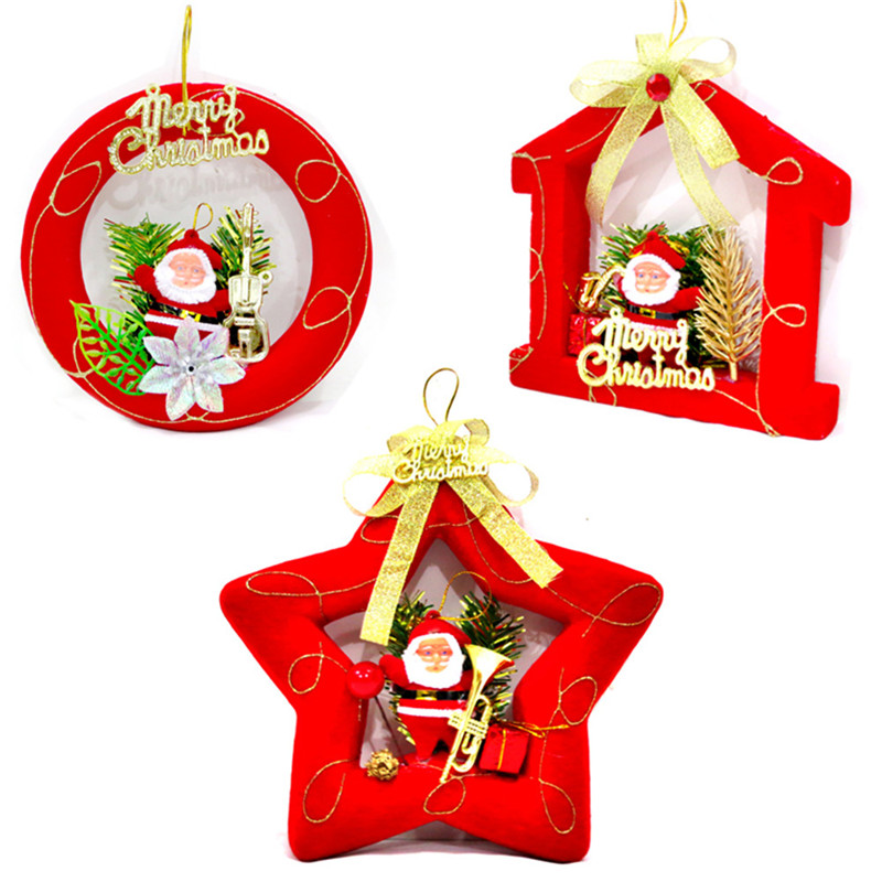 Santa Claus Five Pointed Star House Decoration Christmas Tree Ornaments Christmas Decoration China