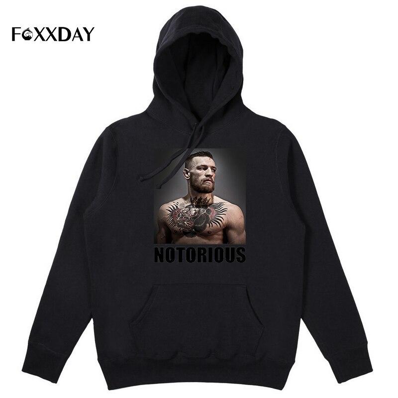 Conor McGregor NOTORIOUS Hoodies Sweatshirt Creative Design Printed Long Sleeve Hoodie Men Cool Funny Hooded plus size 3XL
