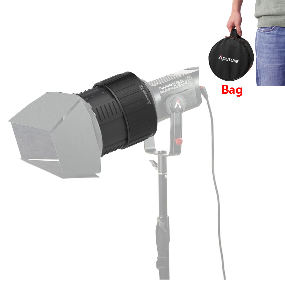 Aputure Fresnel 2X Lens Mount for 120D Mark 2,120D II ,120D Light Storm LS C300D & Other Bowen-S Continuous Lights