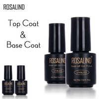 ROSALIND 7 ML bouteille noire couche de finition couche de Base pour Gel vernis à ongles LED UV