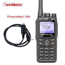 Gps de doble modo digital tdma/analog radio dmr anysecu dm-960 dm960 gps jamón uhf 3000 mah compatible con mototrbo radio