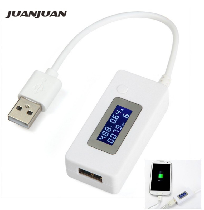 <font><b>LCD</b></font> <font><b>Screen</b></font> Mini Creative Phone USB Tester Portable Doctor Voltage Current Meter Mobile Power Charger Detector <font><b>40</b></font>% off image