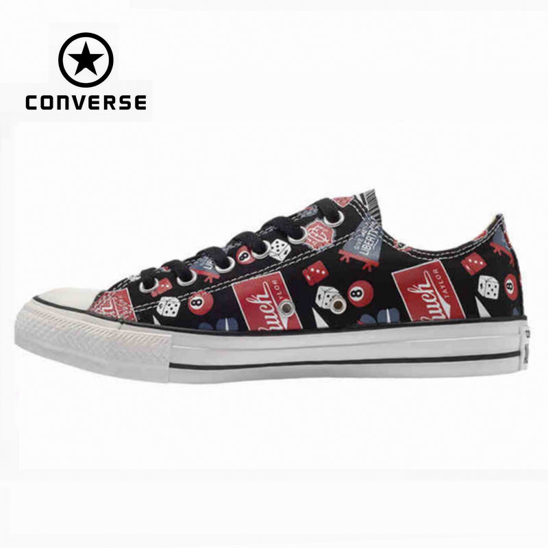 Original Converse all star shoes men sneakerspattern hand-painted low canvas shoes men's classic Skateboarding free shipping red original converse all star men women shoes zombies walking dead custom design sneakers hand painted shoes man woman