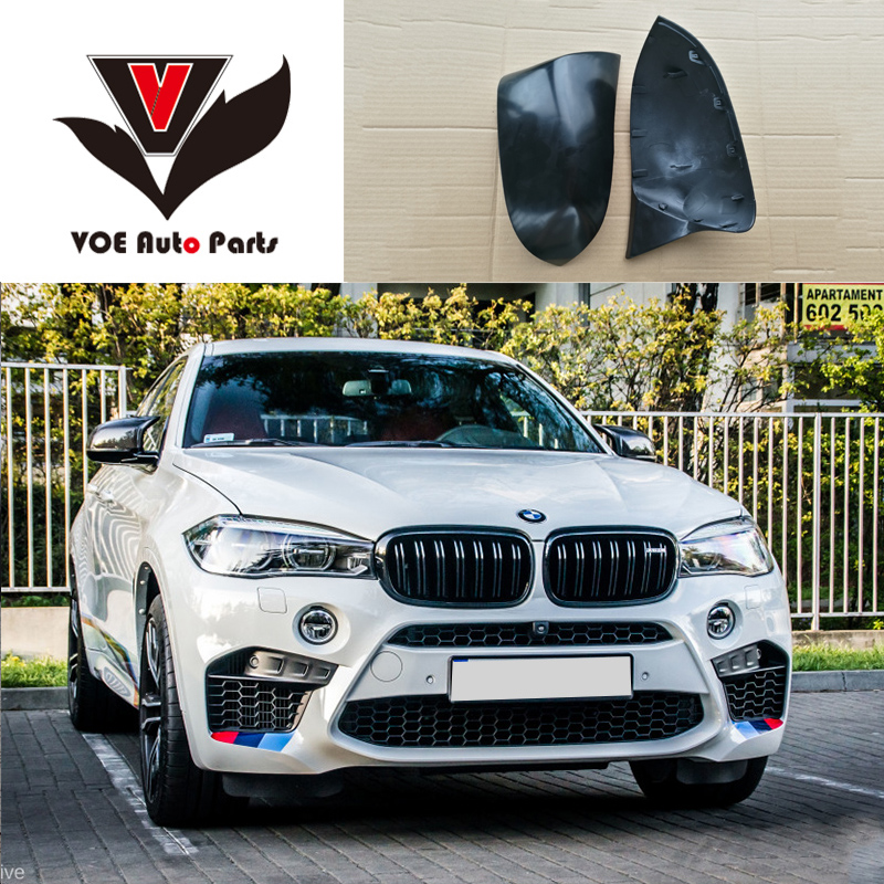 F25 F26 F15 F16 M Style ABS Material Unpainted Matte Black Full Replace Mirror Covers for BMW X3 X4 X5 X6 2014 2015 2016 2017 x3 f25 x4 f26 x5 f15 x6 f16 replacement part carbon fiber side door mirror cover for bmw x3 x4 x5 x6 2014