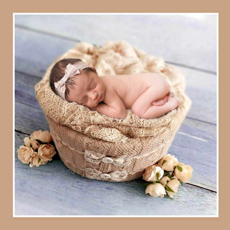 Cesta de disparo de fotografía para bebé de 38x20cm, cesta para dormir para recién nacidos, accesorios para bebés