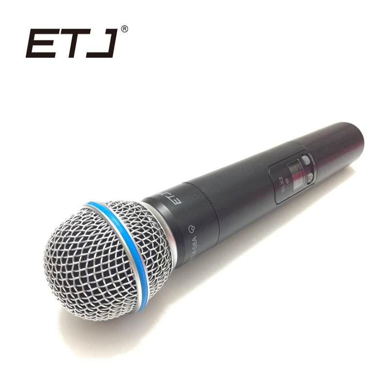 ETJ Brand Professional UHF Wireless Handheld Microphone Beta 58A Handheld Mic Handheld Transmitter SLX2 portable professional 2 4g wireless voice amplifier megaphone booster amplifier speaker wireless microphone fm radio mp3 playing