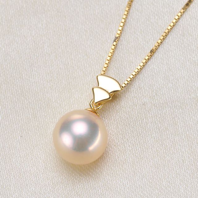 Simple Pearl Pendant Jewelry FindingsComponents S925 Sterling