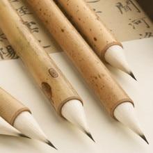 서예 브러쉬 펜 절묘한 보라색 토끼 머리 중국어 작은 일반 스크립트 소프트 모직 머리 중국어 회화 브러쉬 펜