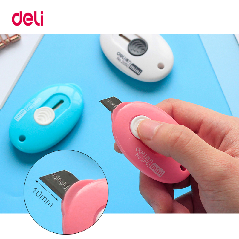 3Pcs Cute Solid Color Mini Portable Utility Knife Paper Cutter Cutting Paper Razor Blade Office Stationery Escolar Papelaria