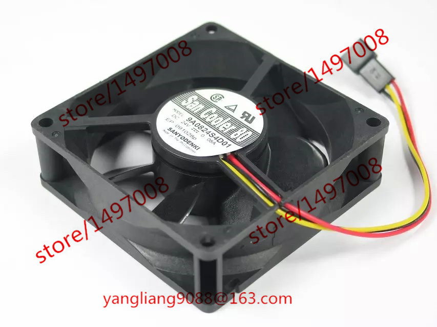 Sanyo 9A0824S4D01 DC 24V 0.08A 3-Pin Server Square Fan free shipping for papst 4414 fn 2n dc 24v 8 3w 3 wire 3 pin connector 120x120x25mm server square fan