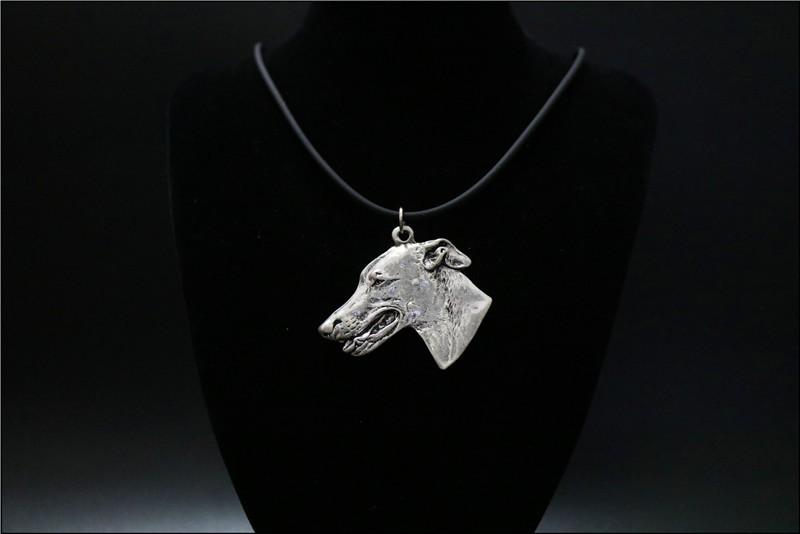 Ожерелье с изображением собаки колье ручной работы украшения