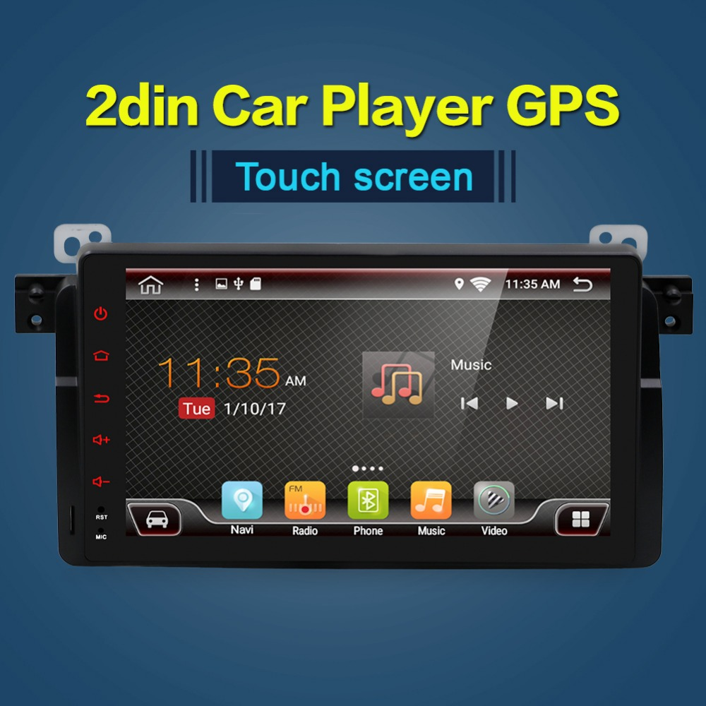 single 1 DIN Android 9 0 Car DVD For BMW E46 car multimedia android Radio Stereo