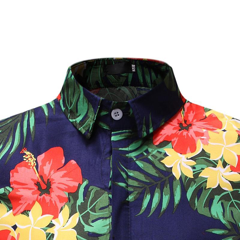 Social Shirt Dress Short Sleeve Beach Casual Casual Blouse Men Summer Hawaiian Floral Shirt For Men Leisure New