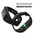 Pulsómetro pulsera inteligente podómetro gimnasio actividad rastreador reloj para ios android teléfono xiaomi mi banda pulsera pk 2
