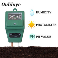 Digital PH Tester Soil Water Moisture Light Meter Soil Analyzer Sensor ec Meter Controller Detector Garden Hydroponic Plant стоимость