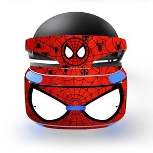 Image 1 - Sipderman Iron Man wymienna winylowa tablica naścienna skórka naklejka obudowa ochronna do Playstation VR PS VR PSVR folia ochronna skórka naklejka