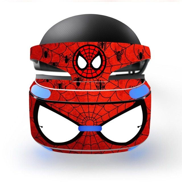 Sipderman Iron Man wymienna winylowa tablica naścienna skórka naklejka obudowa ochronna do Playstation VR PS VR PSVR folia ochronna skórka naklejka