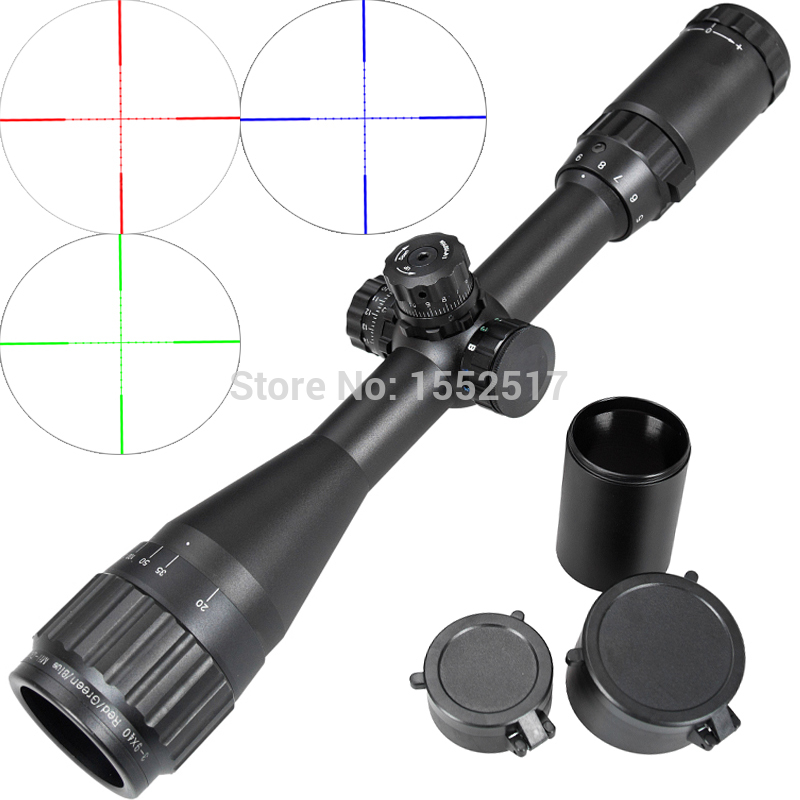 Leapers Tactical 3-9X40 AO Riflescope Optical Sight Full Size Mil Dot Red Green Blue llluminate Hunting Rifle Scope tactial qd release rifle scope 3 9x32 1maol mil dot hunting riflescope with sun shade tactical optical sight tube equipment