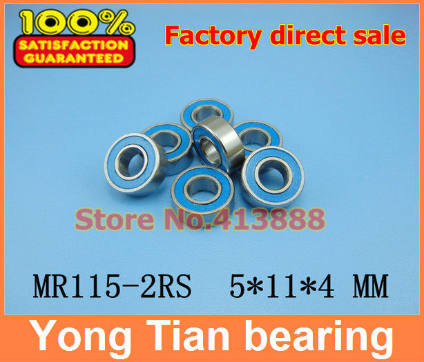 NBZH 500pcs lot free shipping High quality blue double rubber sealing cover miniature ball bearing MR115