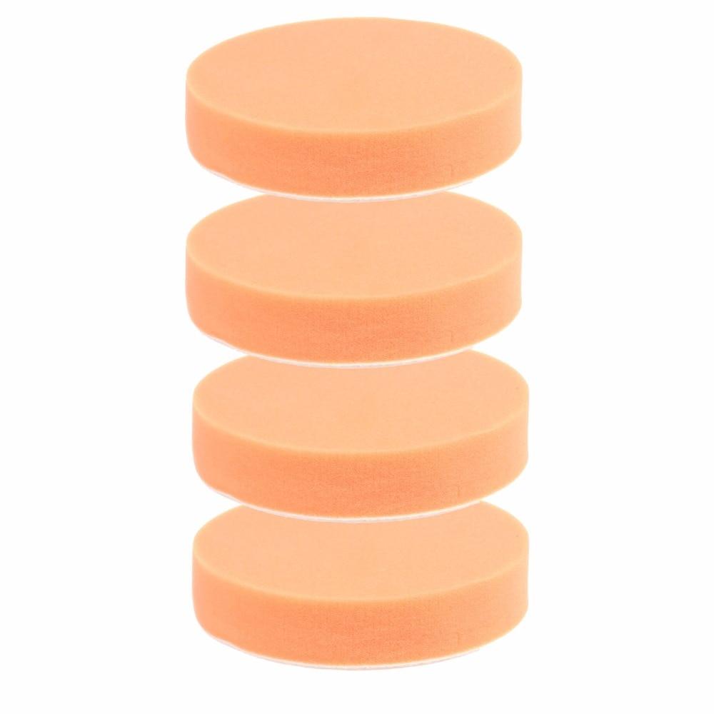 SPTA 4Pcs 5 inch(125mm) Orange Buffing pad & Heavy cut Polishing pad For Car Polishing For Car Polisher spta 50pcs of 2 50mm polishing pad buffing polishing pad set for car polisher select set