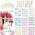 2015 NUEVO 50 Unids/lote BLE1698-1708 Venecia Princesa agua pegatinas de uñas de Dibujos Animados Patrón de Transferencia de Agua de Impresión de Uñas de Arte