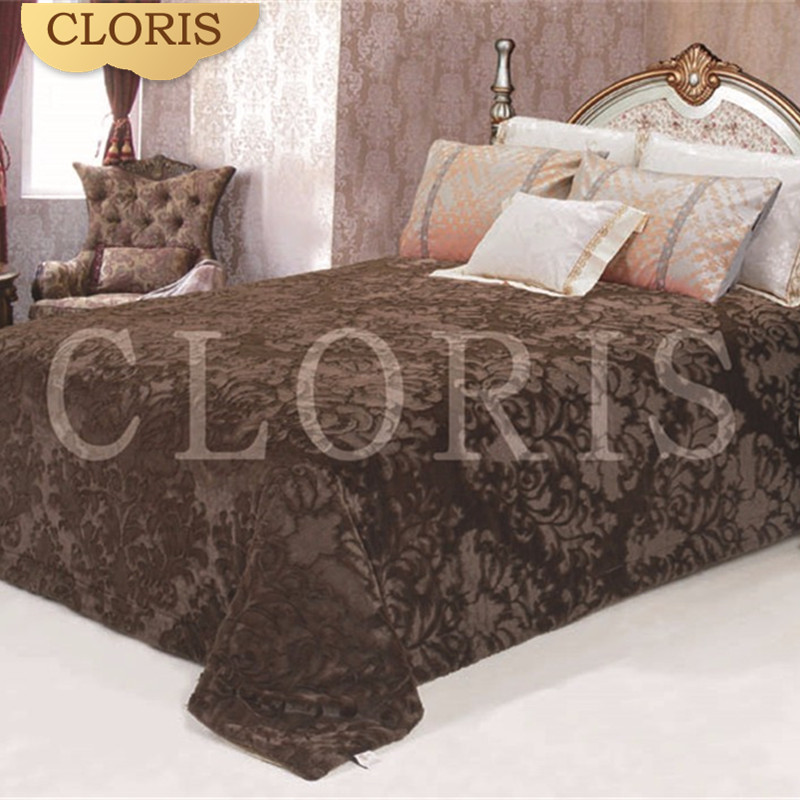 CLORIS Moscow Warm Comfortable Quilt Thick Bedspreads 220 * 240cm Hot Sale Satin Bed Linen Bedspreads Bed Blanket On The Sofa