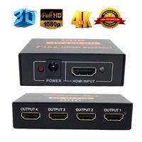 LNOP 3D 4K 2K Full HD 1080p HDMI Splitter 1X4 1X2 4 2 Port Hub Repeater