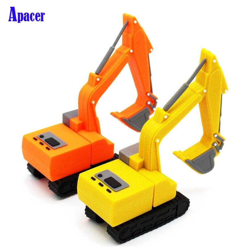 Apacer truck model usb flash drive pen drive excavator special car pendrive 8gb 16gb 32gb 64gb memory stick real capacity