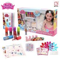 Disney girls Princess frozen snow tattoo pen set makeup toy elsa anna nail art set Princess tattoo girls birthday present