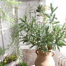 Artificial flower olive branch home decoration wedding holding leaf wall plant fake flowers