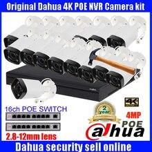 2017 New Dahua New 16CH CCTV NVR4216-4KS2 System h.265 POE NVR Video Ourput 16PCS 4MP Weatherproof CCTV IP Camera IPC-HFW4300R-Z