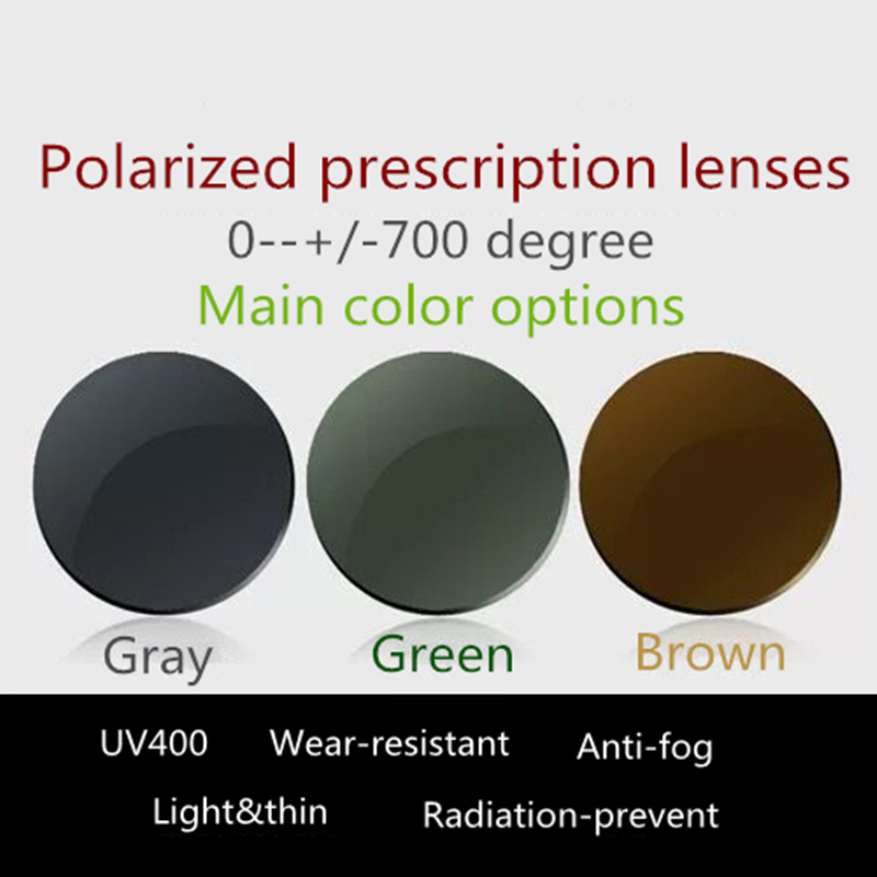 UV400 polarized lens for sunglasses eyewear Prescription Lens with UV anti Aspheric Diopter Myopia Hyperopia Presbyopia