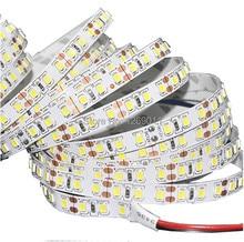 5M/lot 2835 SMD CRI80+ More Brighter Than 3528 5050 SMD LED Strip light DC 12V 60LEDs/M Indoor Decorative Tape White
