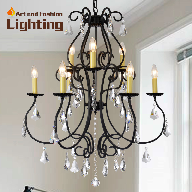 Crystal Chandelier Quality Types: Hot Sale Classical Iron And Crystal Chandelier, Good