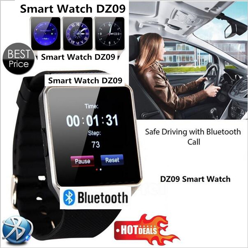2017 Newest MTK6261D Smart Watch DZ09 Sync Notifier Support Sim TF Card Bluetooth Connectivity Apple Android