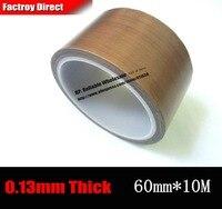 60mm 10M 0 13mm Single Adhesive PTFE Teflon Tape High Temperature Resist Up To 300C