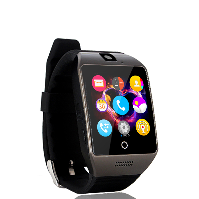 2016 new NFC Smart Watch Q18S Arc Clock With Sim TF Card Bluetooth Connection for iphone Android Phone Smartwatch PK GV18 APRO new arrive gt08 smart watch bluetooth sim card slot push message bluetooth connectivity nfc for iphone android phoones