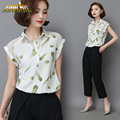 Women Chiffon Camisa Plus Size M-6XL Blouses Shirts 2016 Women Fashion Summer Bodycon Floral Printed Blouses Female Casual Tops